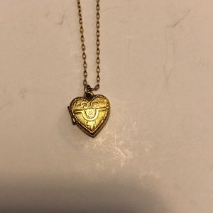 12kt plated gold locket and chain